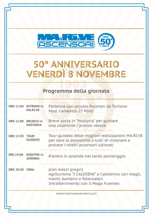 50 anni di ma ri ve ascensori for Mago ma bel